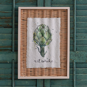Framed Artichoke Basket Art