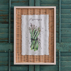 Framed Asparagus Basket Art