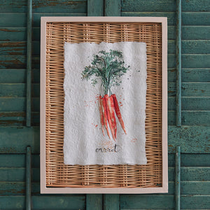 Framed Carrot Basket Art