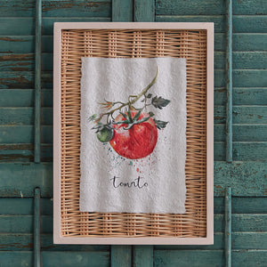 Framed Tomato Basket Art