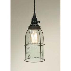 Caged Mason Jar Pendant Lamp