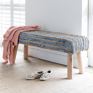 Hemp and Recycled Denim Bench