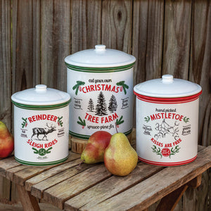 Holiday Storage Containers, Set of 3