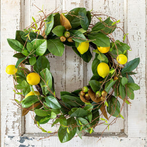 "28"" Lemon & Magnolia Leaf Wreath"