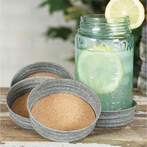 Mason Jar Lid Coaster, Set of 4