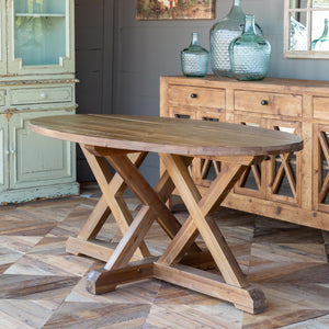 Oblong Trestle Table