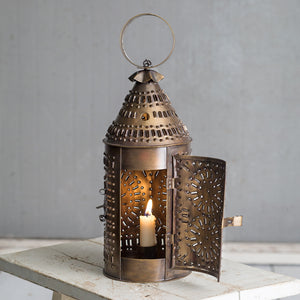 Brass Paul Revere Candle Lantern