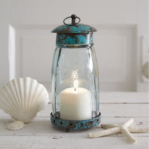 Blue Quart Mason Jar Lantern
