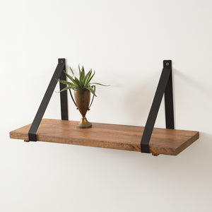 Rustic Wooden Plank Shelf