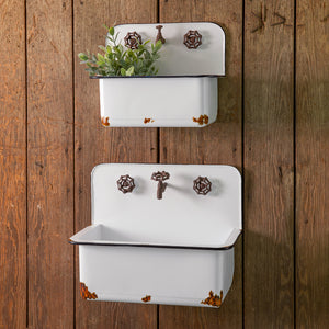 Sink Wall Planters, Set of 2