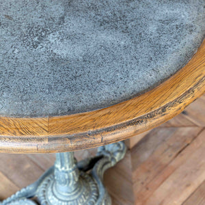Zinc Topped Round Café Table