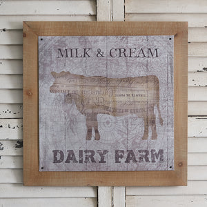 Vintage Dairy Farm Wall Art