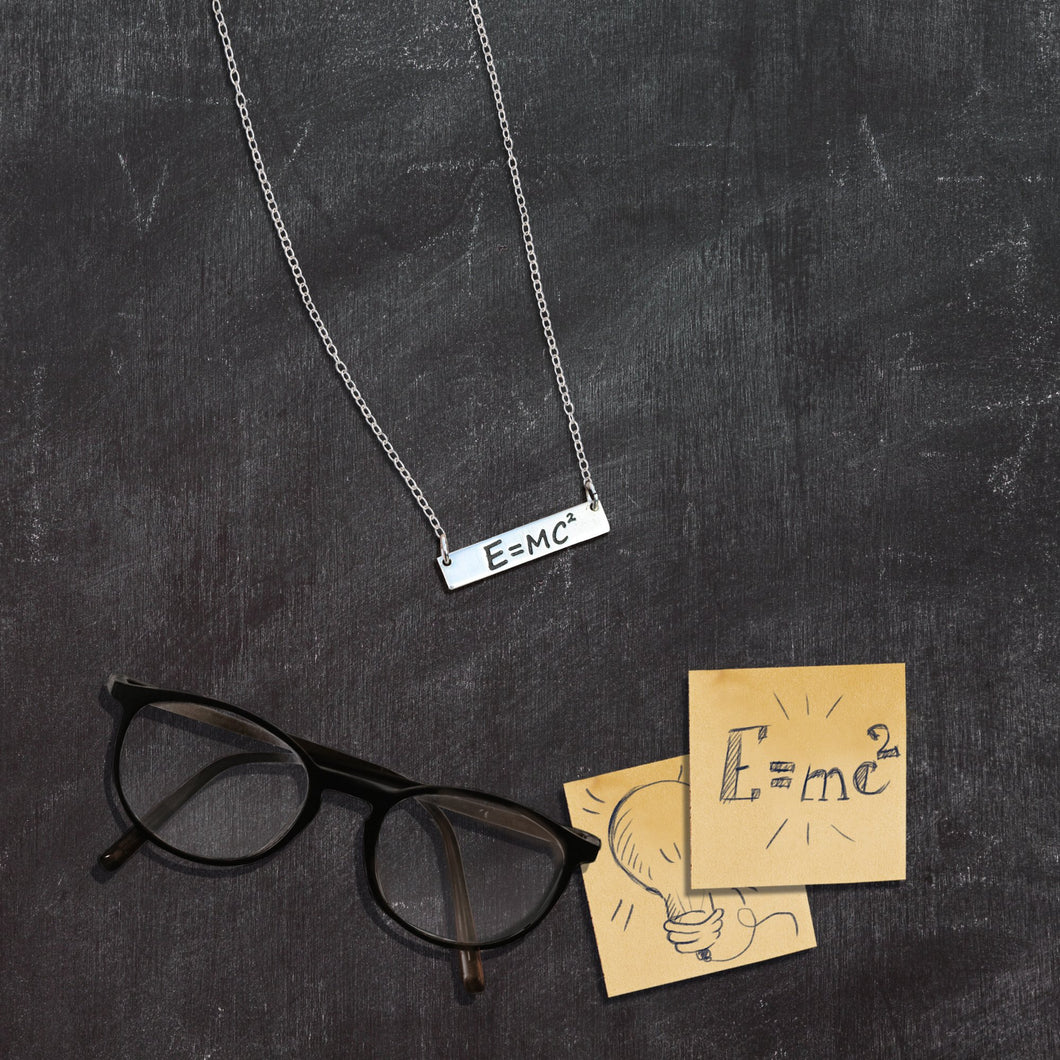 E=MC^2 Necklace