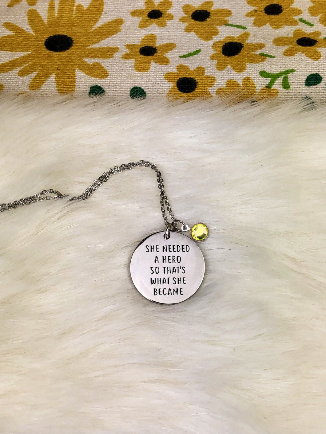 She Is A Hero Necklace
