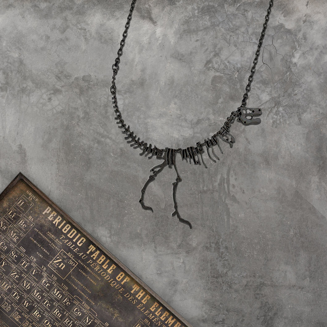 Dinosaur Necklace - Black