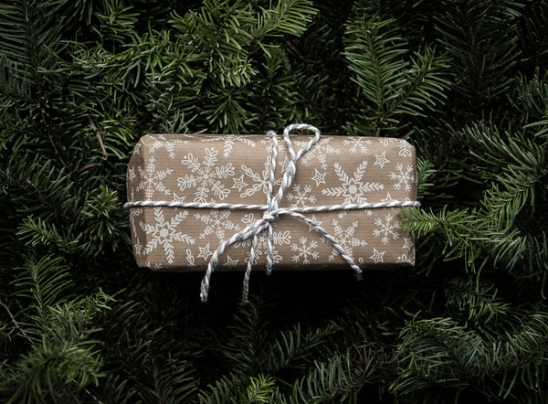 A wrapped holiday present