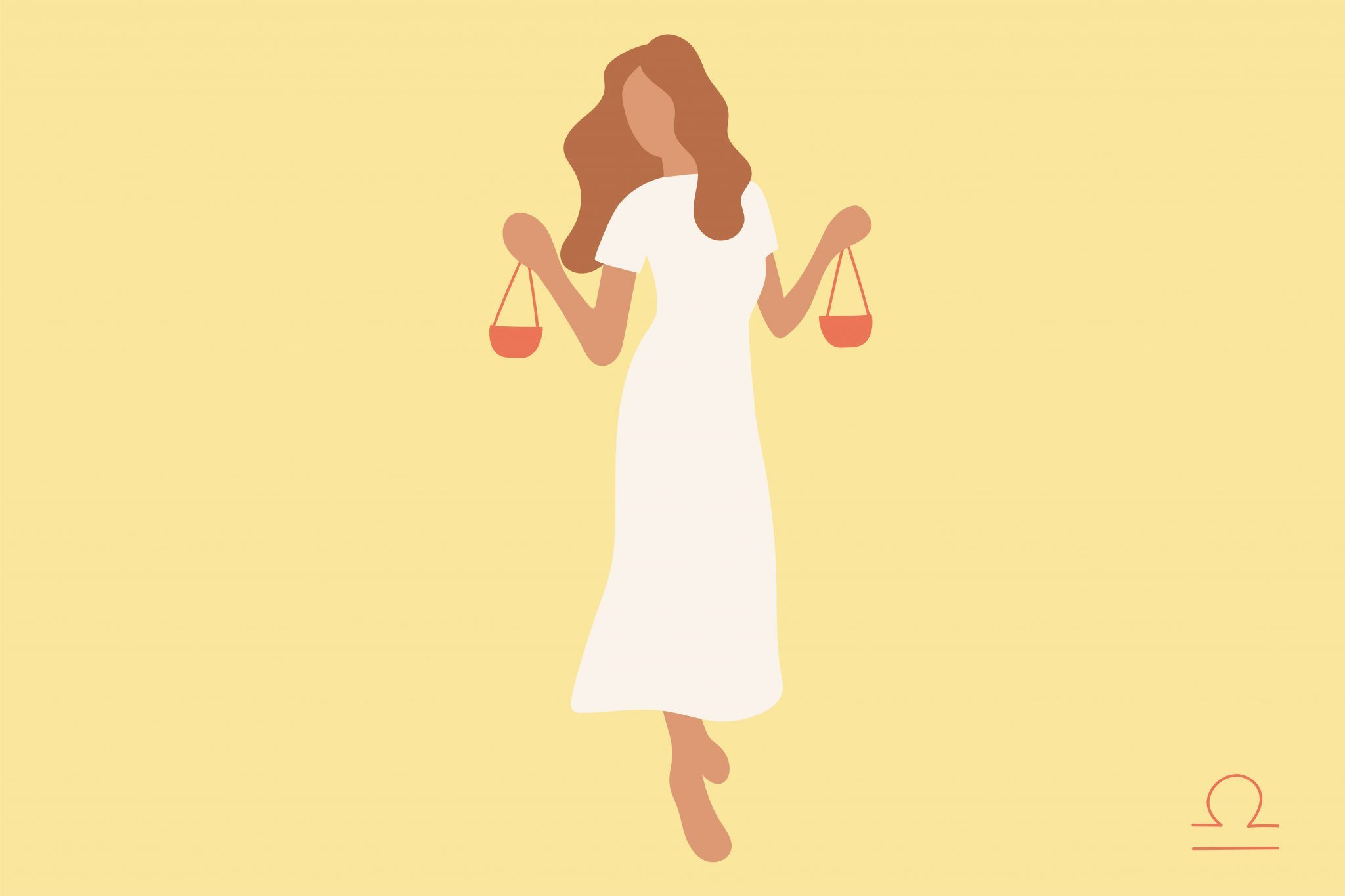 Libra woman illustration