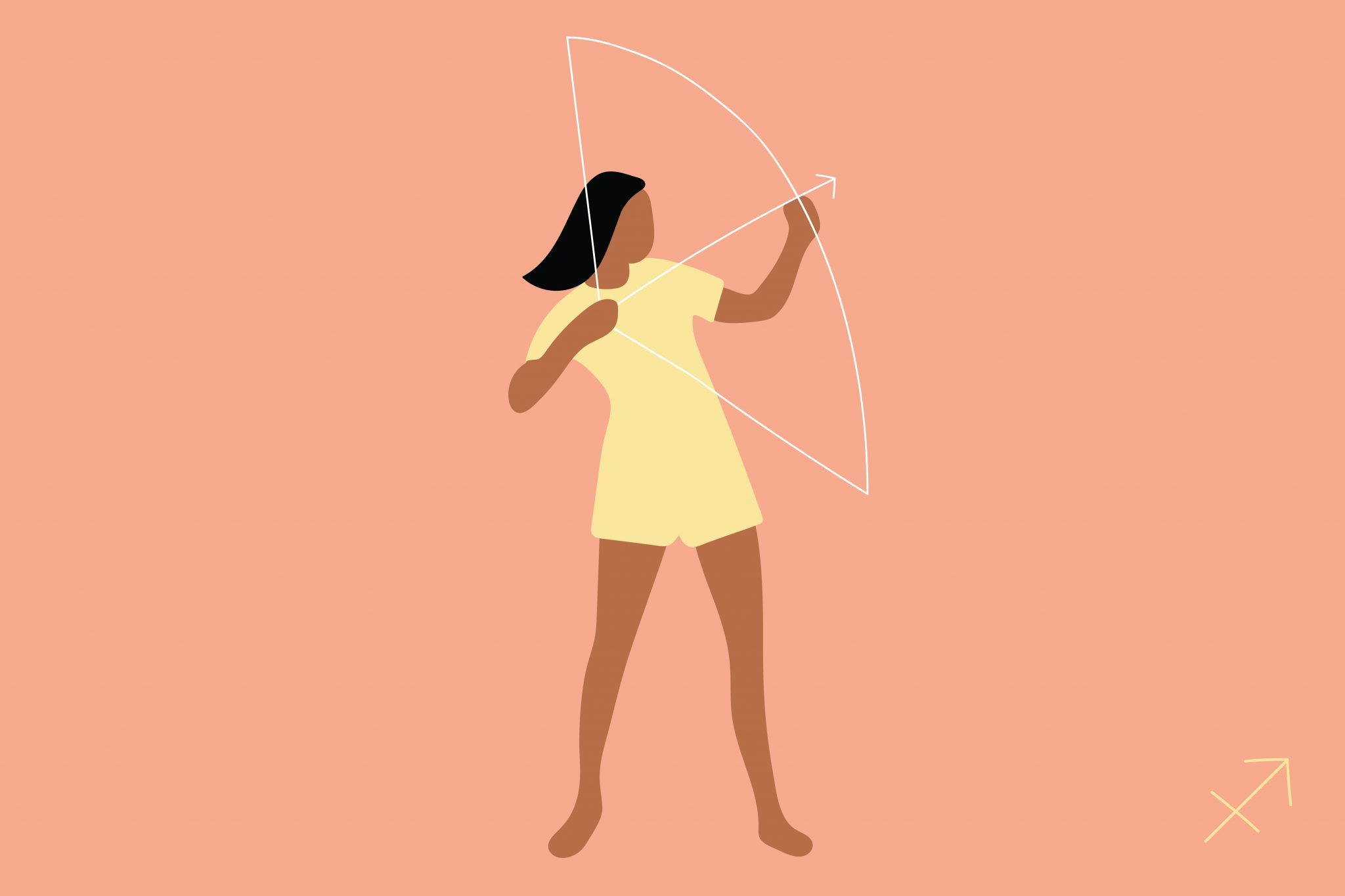 Sagittarius woman illustration