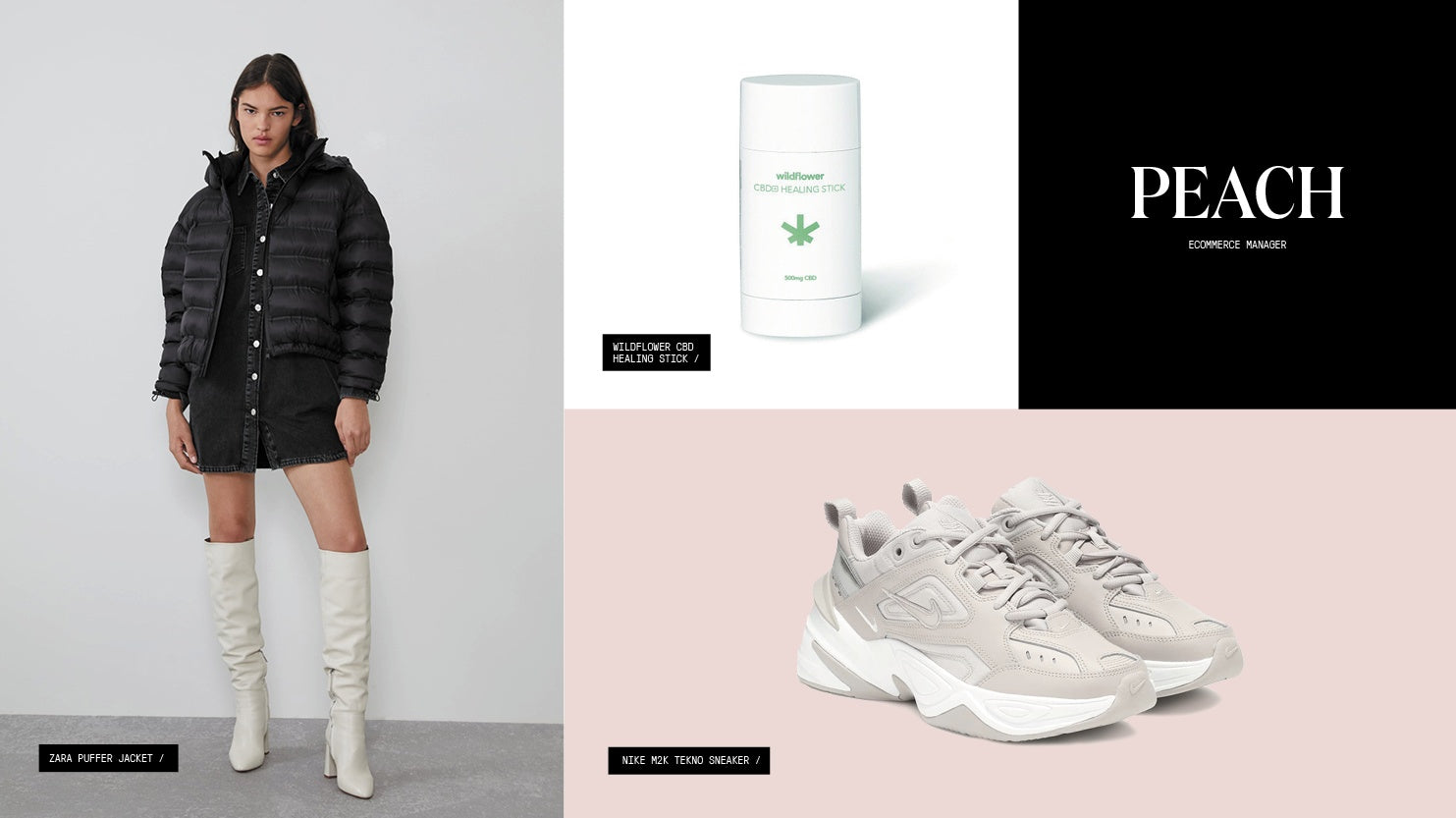 A roundup of gift picks including a puffer jacket, CBD topical, and chunky sneakers.