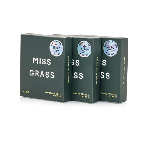 Miss Grass Hemp + Herb Mini Pre-Roll Trio