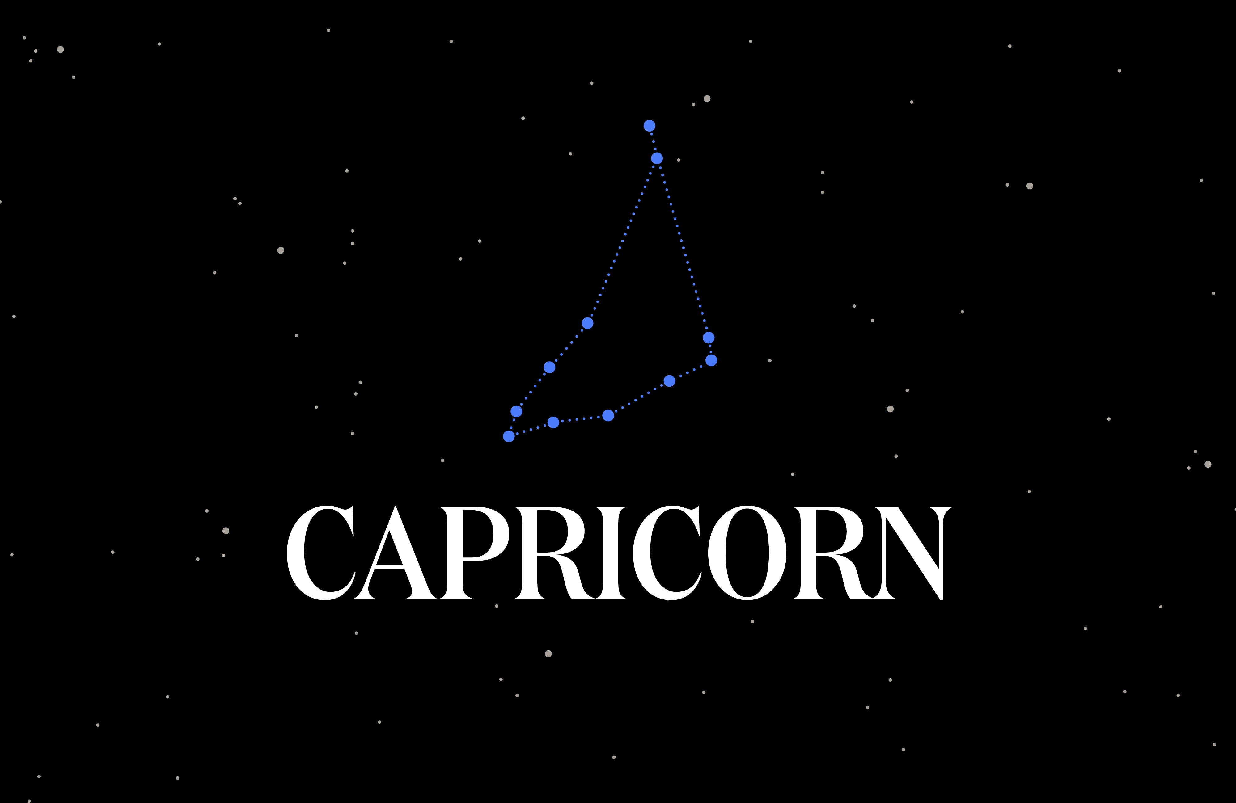 Graphic of the Capricorn constellation.