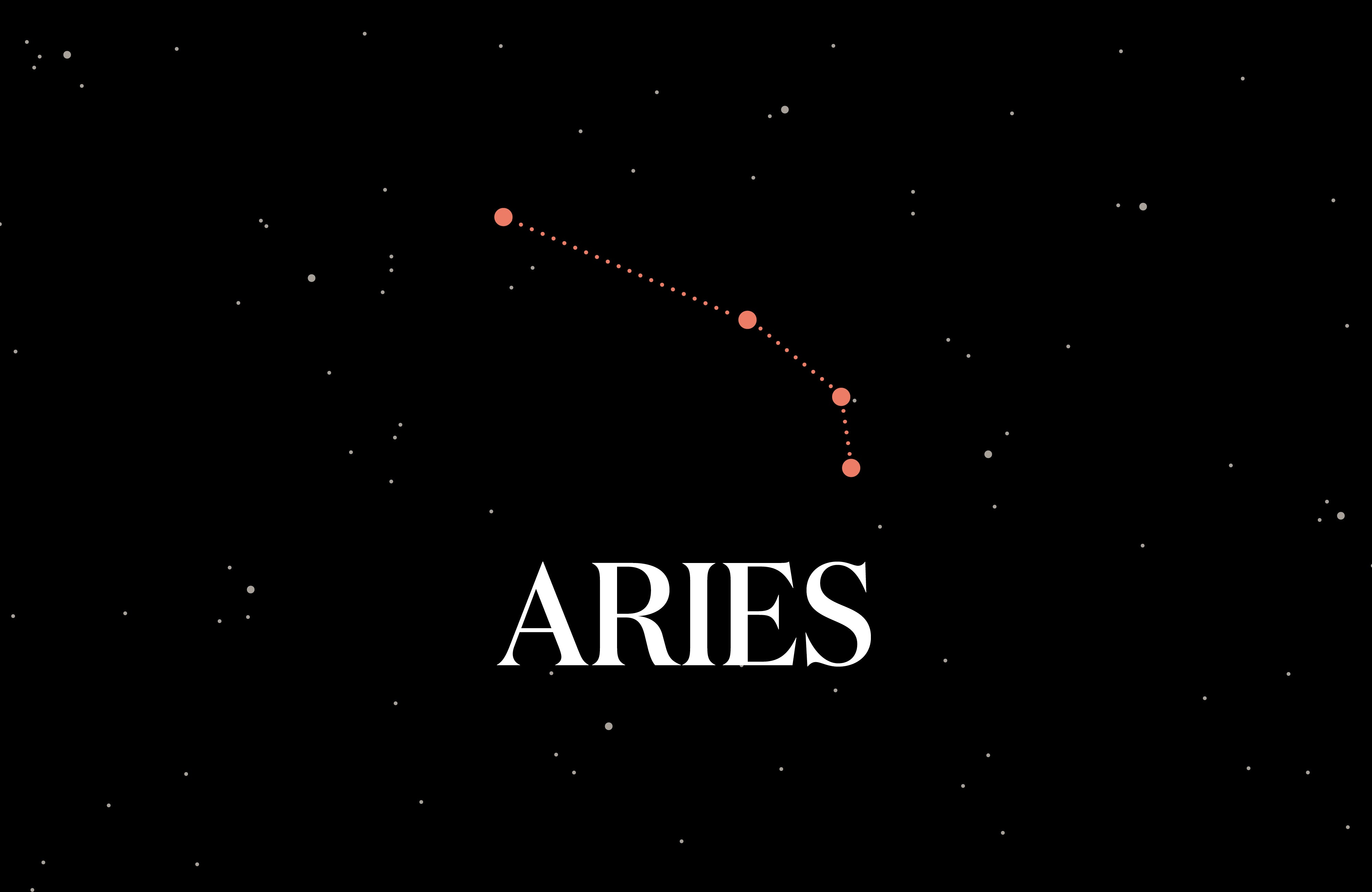 Graphic of the Aries constellation.
