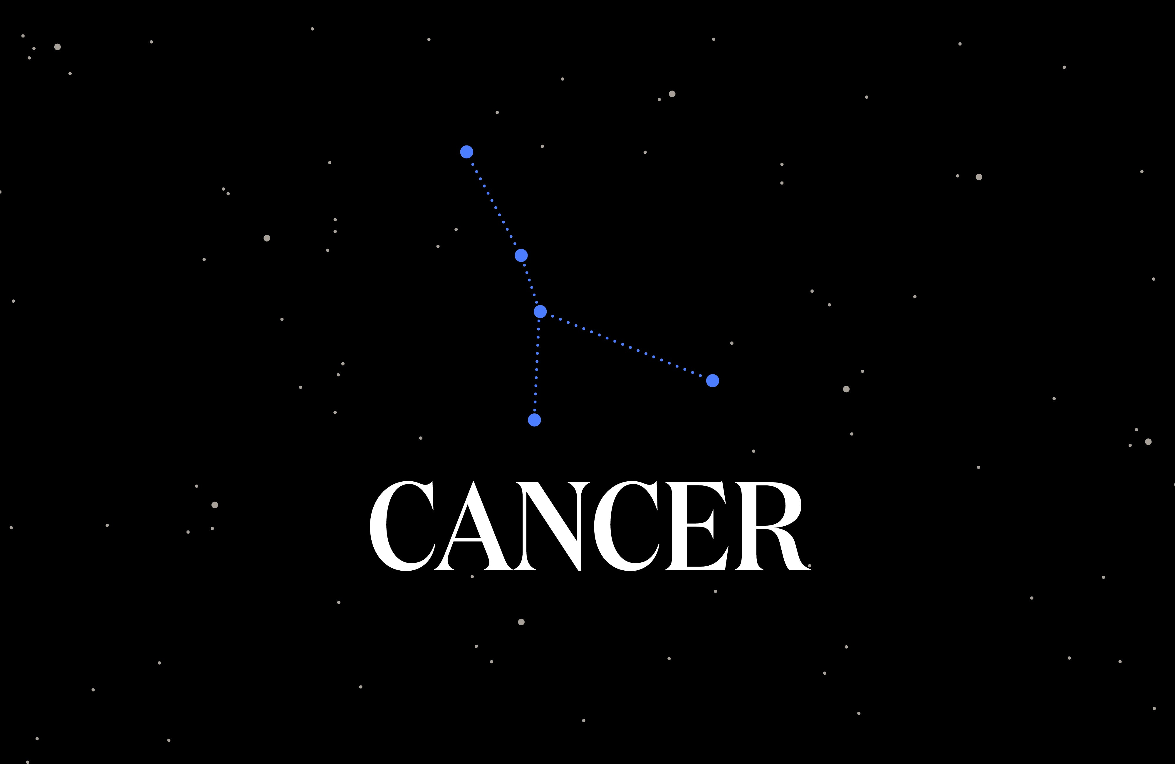 Graphic of the Cancer constellation.