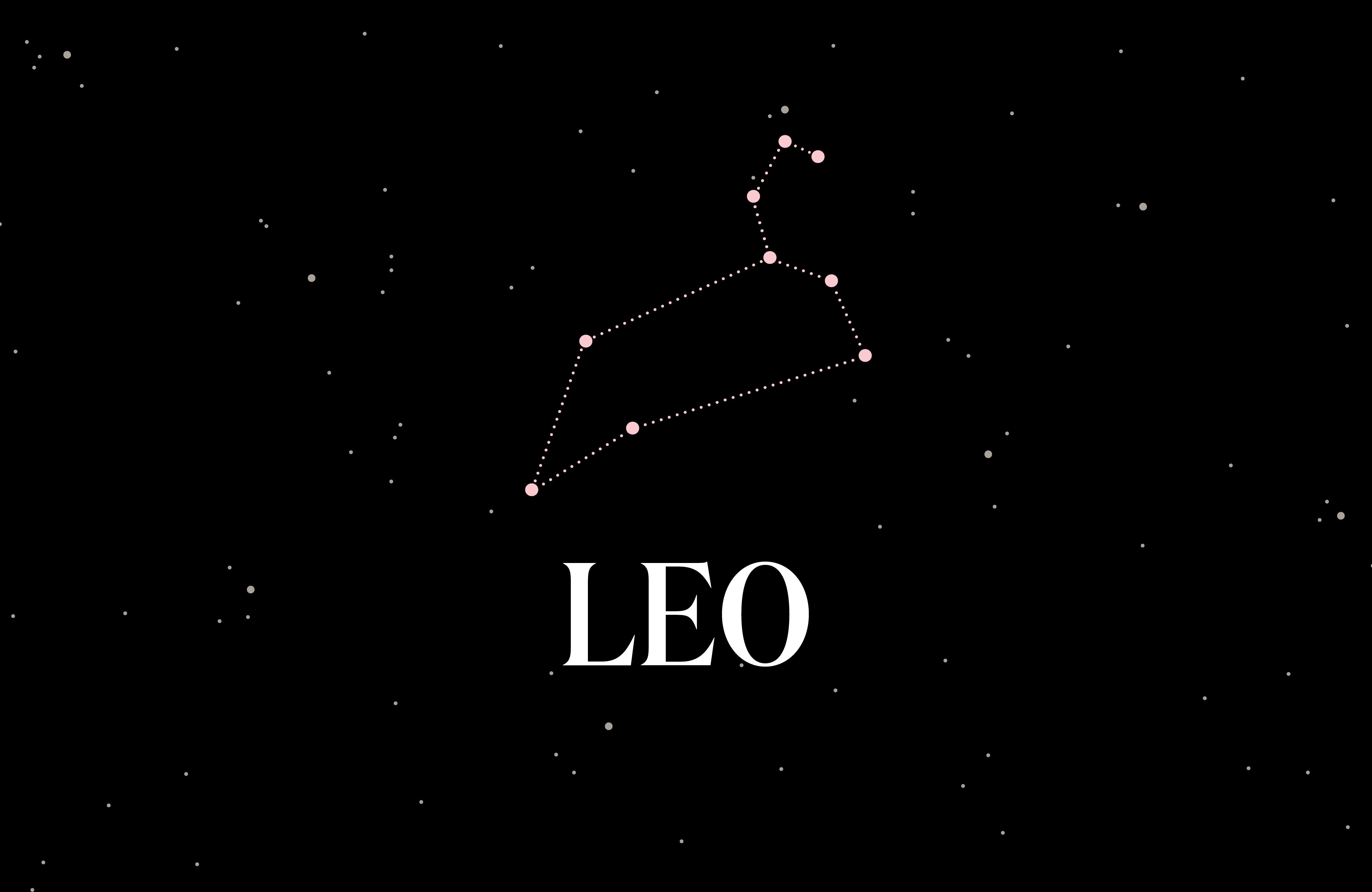 Graphic of the Leo constellation.