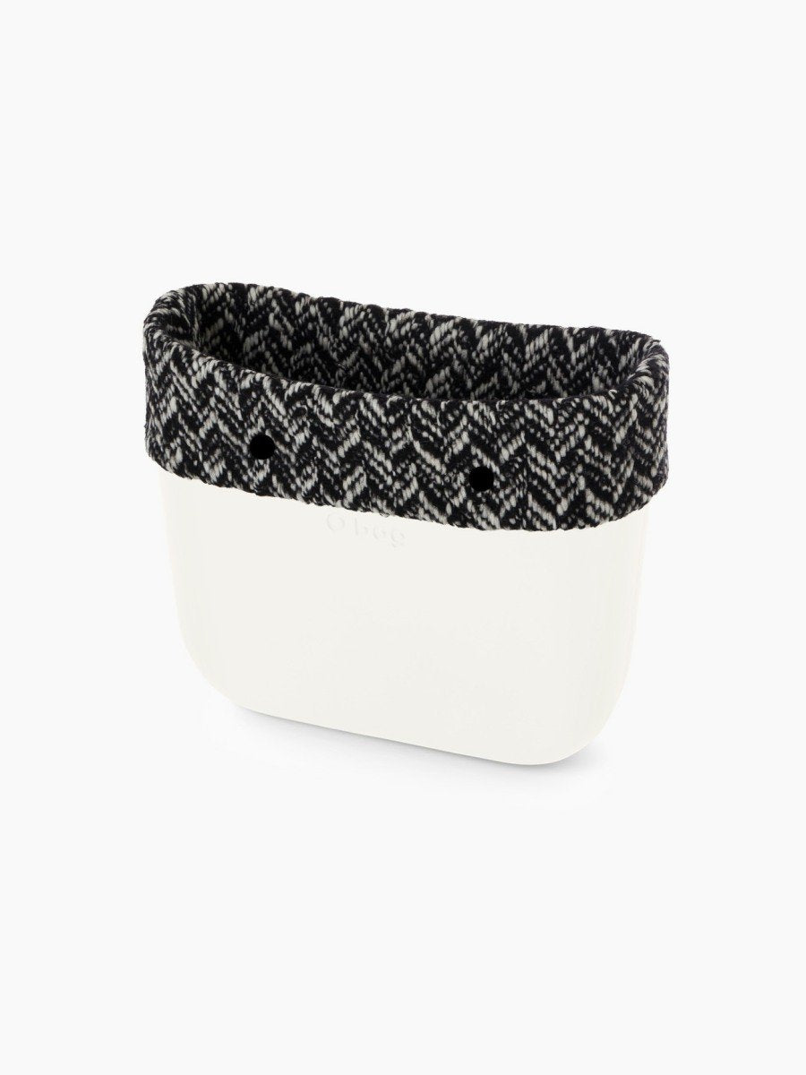 O bag trim mini chevron black & white