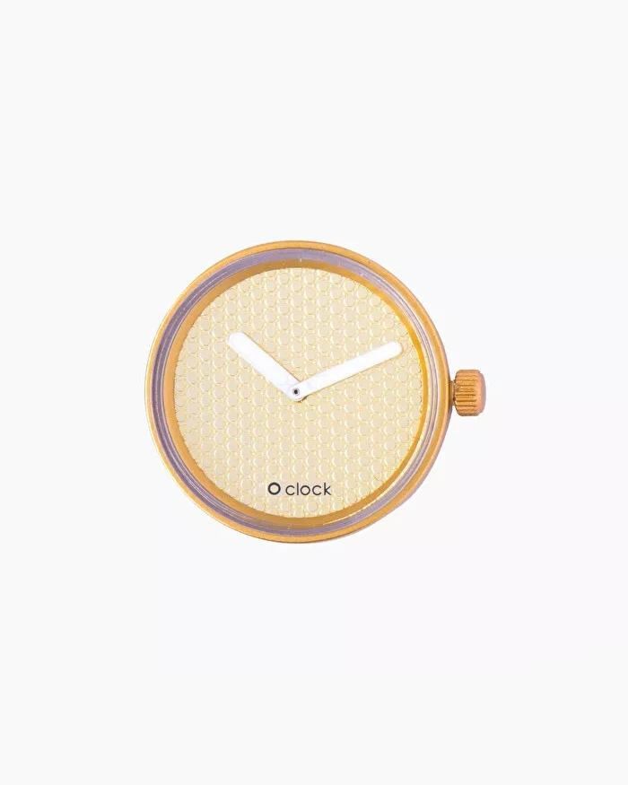 O clock dial pave gold