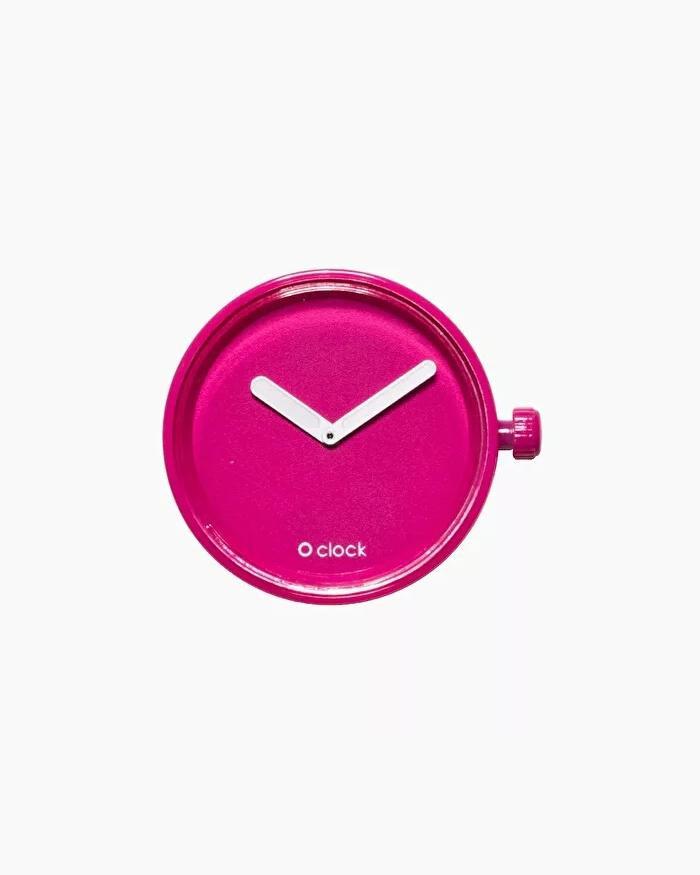 O clock dial tone on tone magenta pink