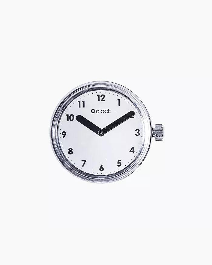 O clock dial numbers silver