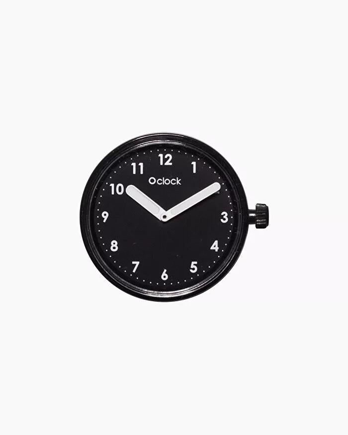 O clock dial numbers black