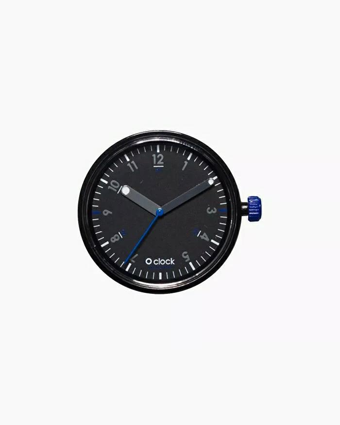 O clock dial seconds blue nero