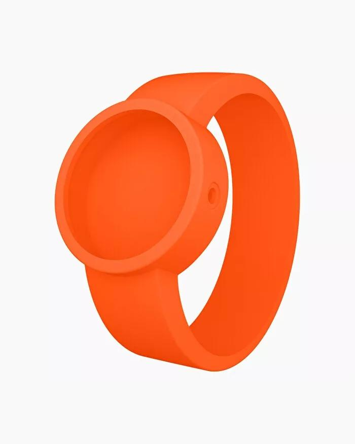 O clock silicone strap small orange