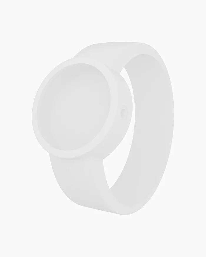 O clock silicone strap large white