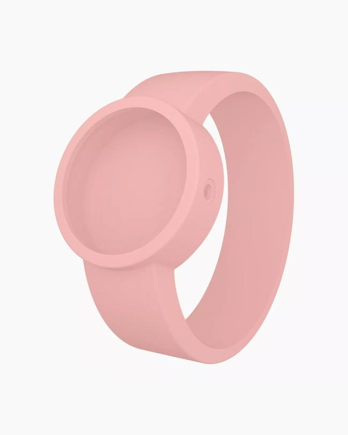 O clock silicone strap small powder pink