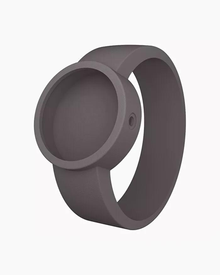 O clock silicone strap small dark grey