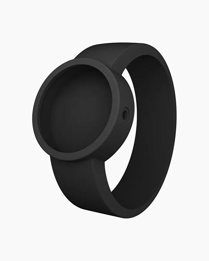O clock silicone strap medium black