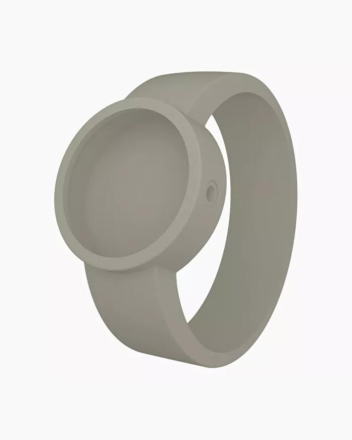 O clock silicone strap large light grey
