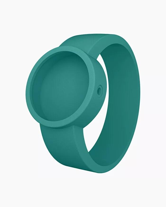 O clock silicone strap small aqua blue