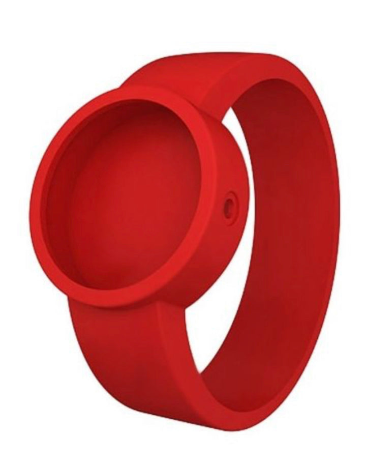 O clock silicone strap medium red