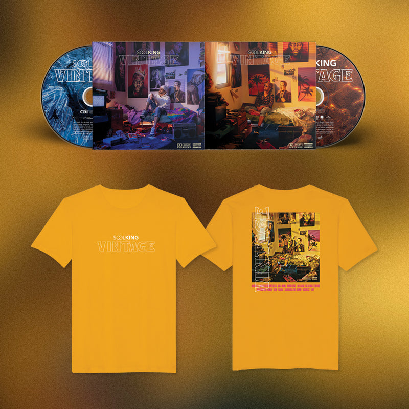 "PACK 2CD + T-SHIRT JAUNE | SOOLKING ""VINTAGE"""