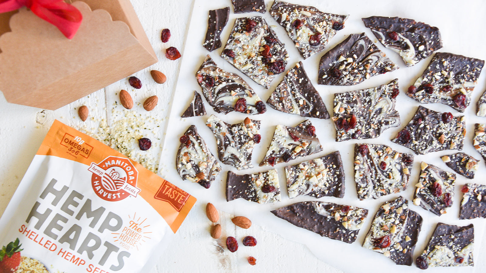 Cranberry Hemp Chocolate Bark