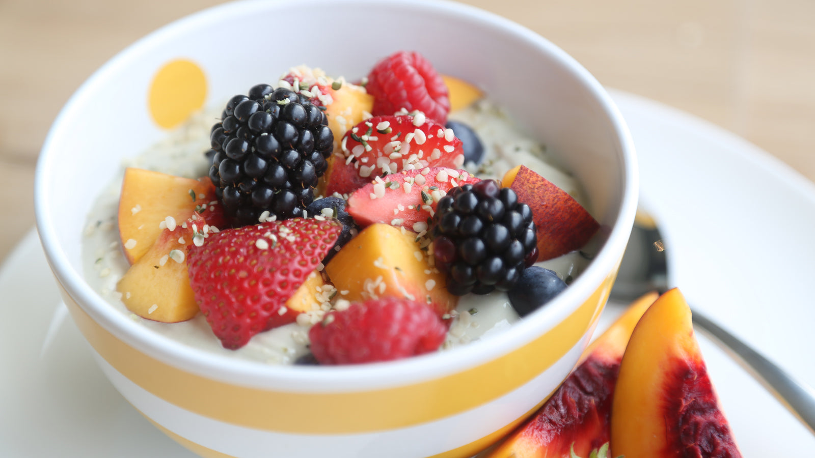 Fruit and Hemp Yogurt Parfait