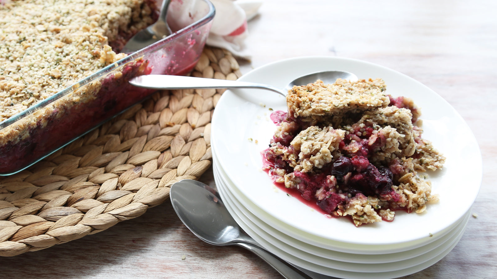 Vegan Triple Berry Crisp