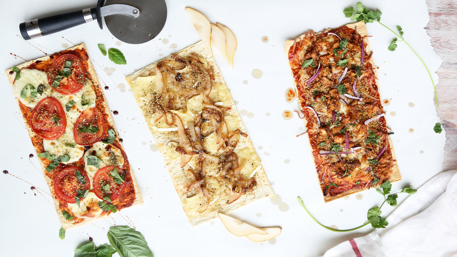 Hemp Flatbread Pizza - 3 Ways