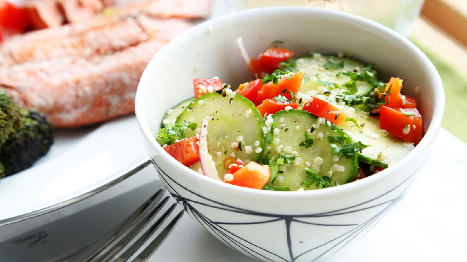 Cucumber Hemp Salad