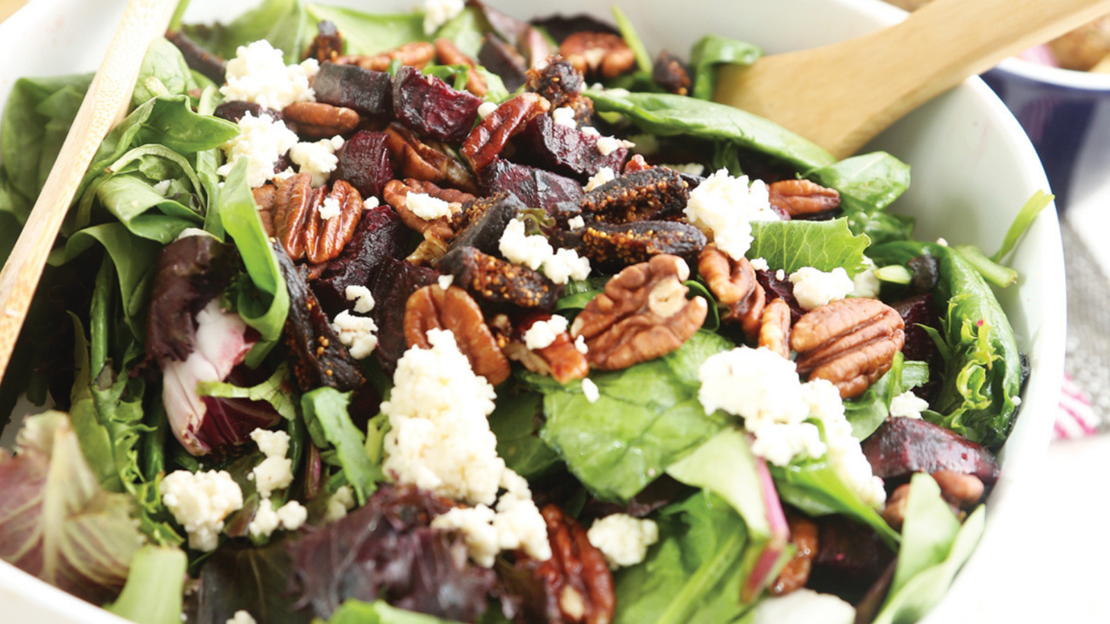 Roasted Beet & Fig Salad with Maple Dijon Dressing