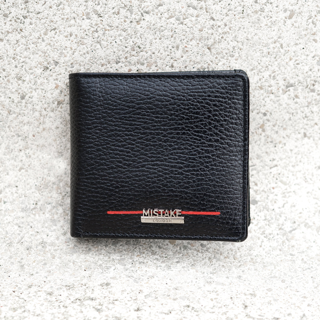 Mens Black Genuine Leather Wallet